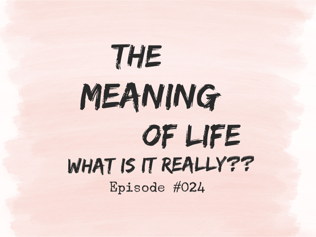 024 – The Meaning of Life (What is it really??)