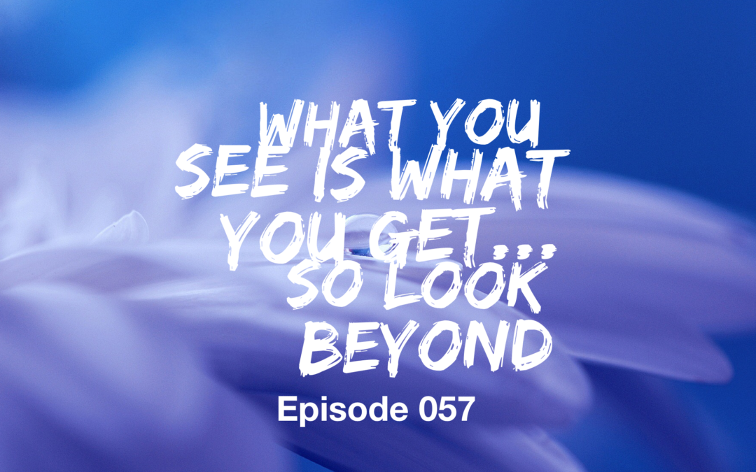 057 – What you see is what you get… so look beyond!