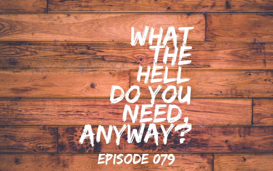 079 – What the hell do you need, anyway?