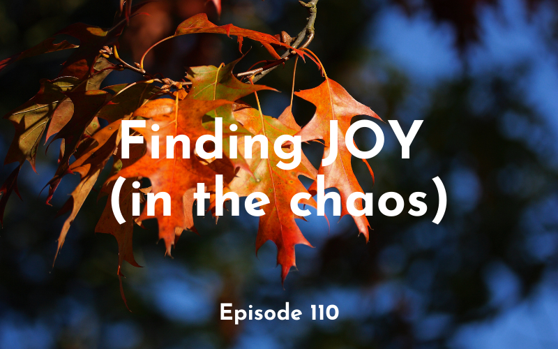 110 – Finding JOY (in the chaos)